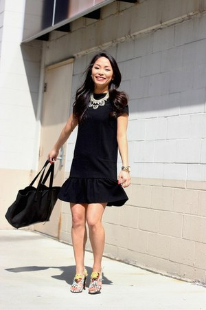 black asos dress - red snakeskin PROENZA SCHOULER heels
