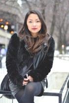 black Topshop jacket - black Alexander Wang bag