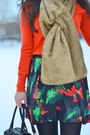 Red-jcrew-sweater-tawny-faux-fur-the-limited-scarf