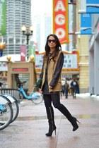 violet clutch vintage bag - black quilted leather Express skirt