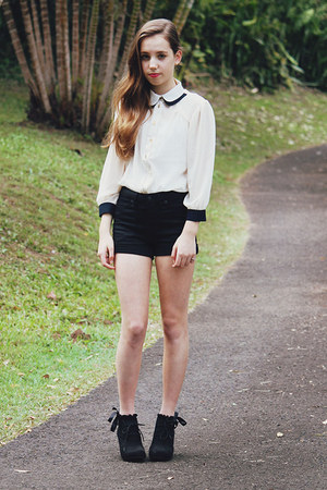 Sheinside top - high-waisted sass & bide shorts