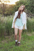 white white jacket Target jacket - white studded Sugarlips shorts