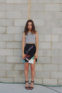 Heather-gray-crop-top-missguided-top-black-ringuet-skirt