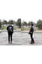 vintage boots - Urban Outfitters hat - Danier - Vintage jacket - Cheap Monday pa