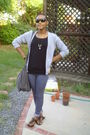 Gray-jeans-brown-mossimo-supply-company-shoes-black-shirt-gray-purse