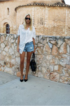 Nine West heels - Marc Jacobs bag - Oysho shorts - H&M blouse