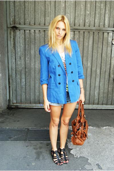 vintage blazer - H&M flats