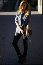 Topshop blazer - Topshop blouse - desigual pants