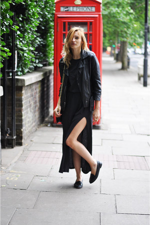 Topshop jacket - H&M Trend dress - Topshop flats