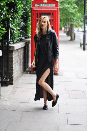 Topshop jacket - H&M Trend dress - Topshop flats