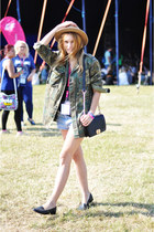 vintage jacket - Romwecom bag - Levis shorts