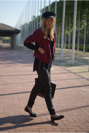 H&amp;M jacket - Topshop shoes - Zara blouse - desigual pants