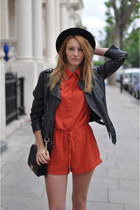 romwe dress - Topshop jacket - romwe bag