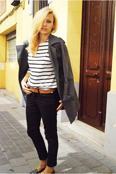 H&M Trend coat - Topshop jeans - H&M Trend shirt