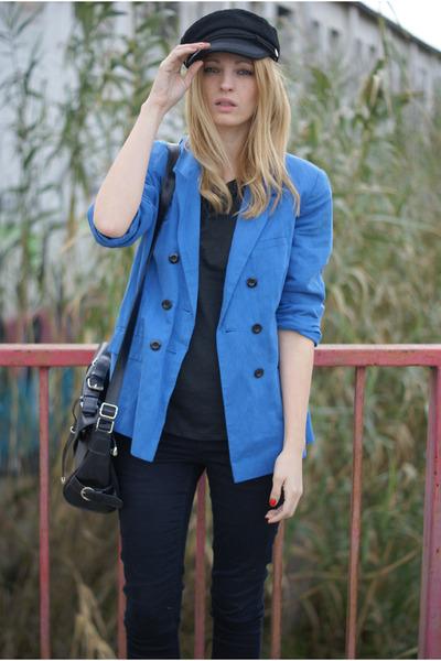 Topshop blazer - Zara jeans - Choies hat