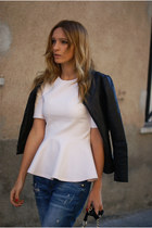 H&M Trend blouse - Zara jeans - Kate Moss for Topshop jacket