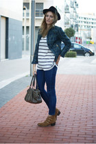 Zara jacket - The Fab Shoes boots - Topshop jeans - Zara shirt