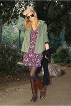 Topshop boots - Topshop dress - Oysho jacket