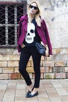 H&M jacket - Topshop jeans - Topshop bag - H&M t-shirt