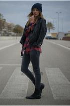 H&M jeans - Topshop jacket - Zara blouse