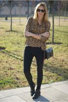 H&M Trend blouse - Zara boots - OASAP bag - Zara pants