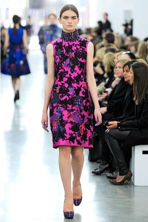 hot pink Erdem dress