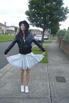 Primark jacket - hollister top - Topshop skirt - Topshop shoes - Primark hat