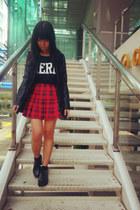 black creepers Dreamz Couture shoes - black H&M jacket - black H&M socks