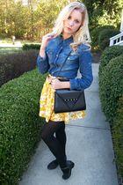 shirt - skirt - purse - tights - shoes