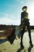 black Vivienne Westwood Gold Label shoes - light brown AF Vandevorst dress