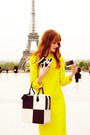 Yellow-louis-vuitton-dress-black-louis-vuitton-bag-white-louis-vuitton-bag