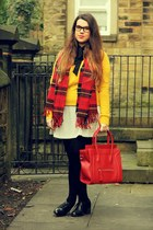 H&M scarf - asos dress - Primark sweater