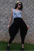 Forever21 pants - forever 21 top - Wet Seal sunglasses - dragonfly accessories -