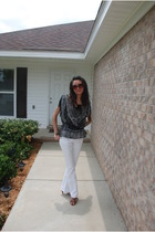 Taunt jeans - top - Wet Seal top - Antonio Melani shoes