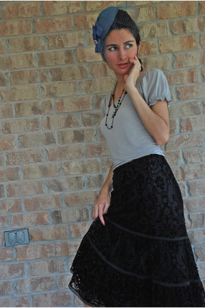 hat - shirt - necklace - Express skirt