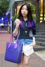 Purple-iscov-bag-navy-jeffrey-campbell-boots-sky-blue-denim-topshop-shirt