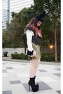 Christian-louboutin-boots-beanie-diy-hat-methodology-vest