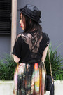 Galaxy-print-random-brand-skirt-lace-zara-top