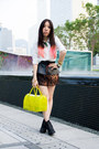 Glitter-topshop-boots-candy-furla-bag-peplum-zara-belt