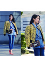 Denim-topshop-jeans-print-stella-mccartney-blazer-python-jimmy-choo-bag