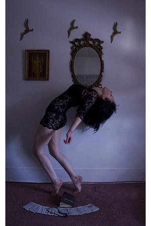 black thrifted dress