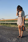 White-forever21-accessories-beige-target-dress-blue-jcpenny-shirt-blue-doo