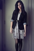 silver bird dress - black rue21 blazer
