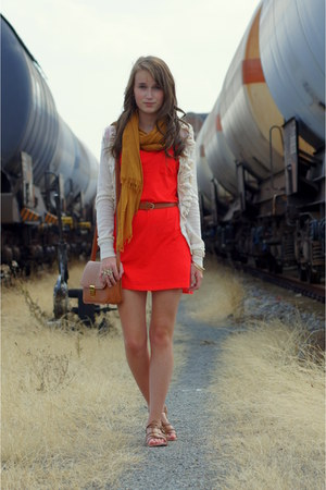 carrot orange H&amp;M dress