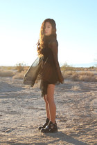black Jeffrey Campbell boots - black UNIF dress