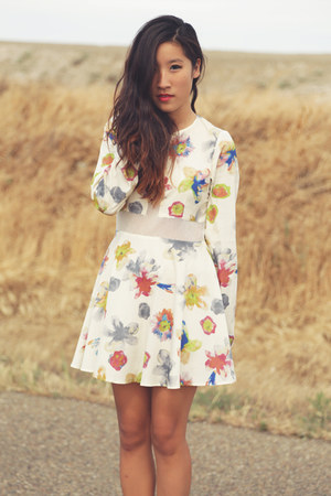 For Love & Lemons dress - camel Dolce Vita wedges