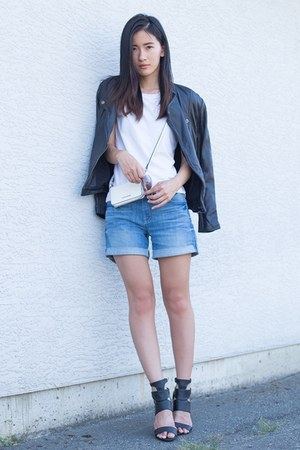 black Viparo jacket - blue 7 for all mankind shorts