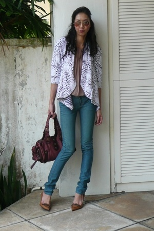 Stella McCartney blouse - Siwy jeans - abyzz coat