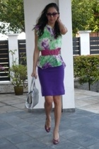 See by Chloe blouse - vintage skirt - lilica shoes