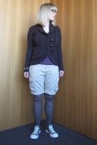 Mango - EDC shirt - Sisley - Calzedonia tights - Converse